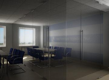 Монтаж стеклянных перегородок в офисе в Минске
